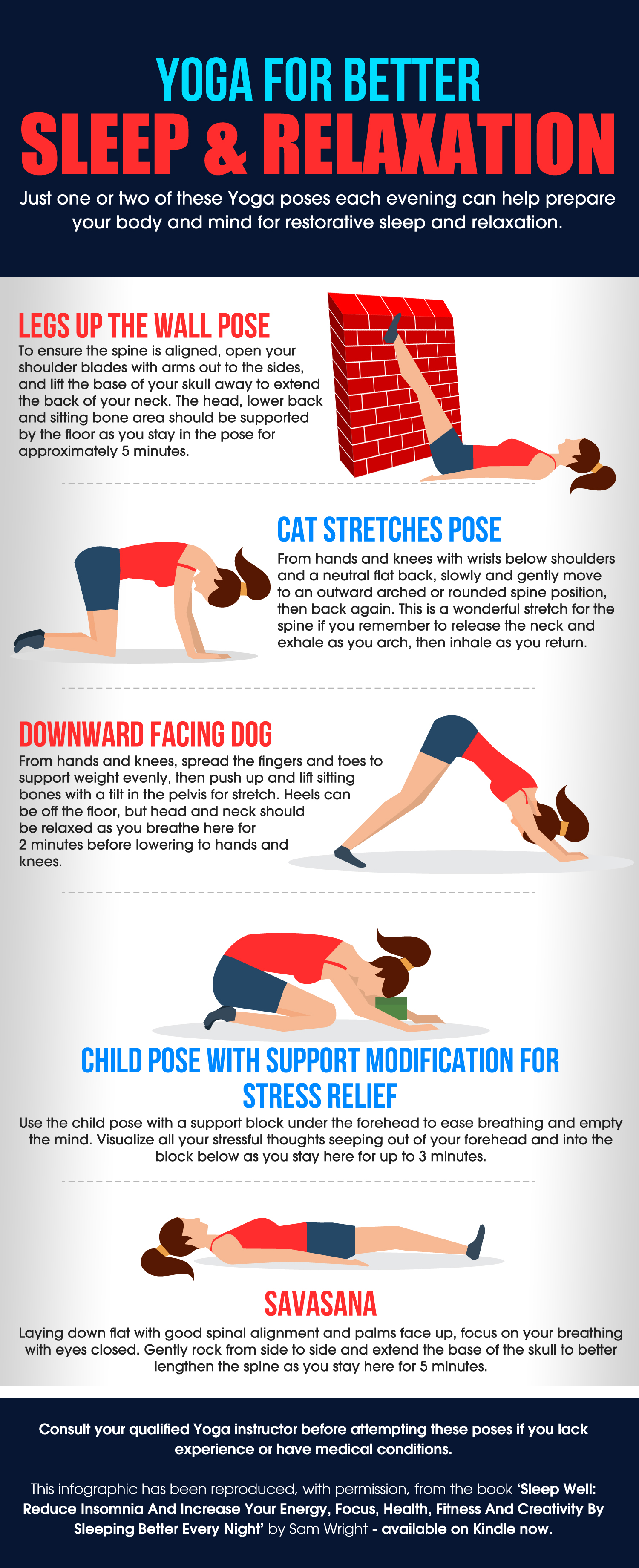 Simple Yoga Poses To Help With Common Sleep Disorders – Sam Wright