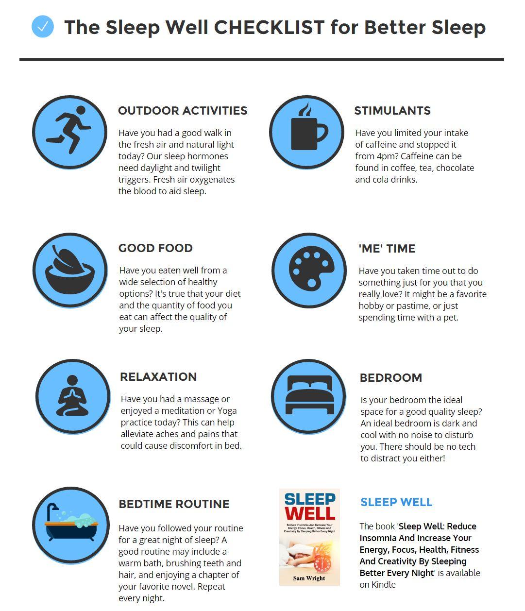 The Sleep Well Checklist for Better Sleep